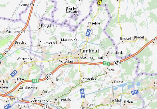 Kaart Plattegrond Turnhout