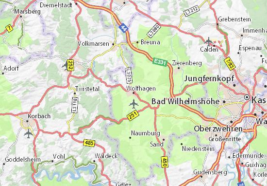 Carte-Plan Wolfhagen