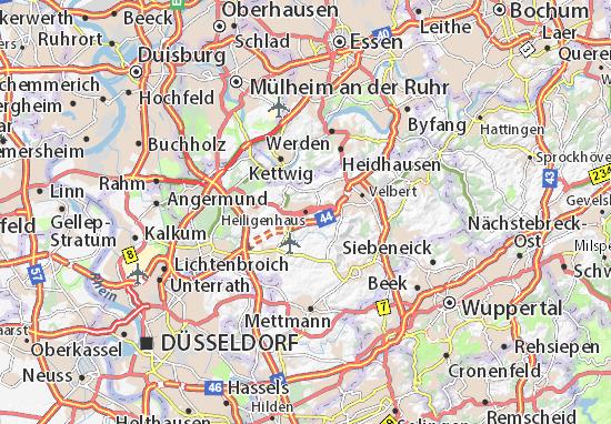 Karte Stadtplan Heiligenhaus