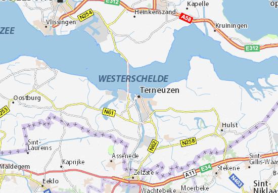 Terneuzen Map