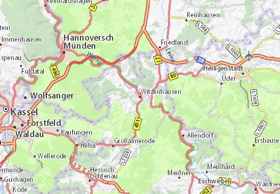 Carte-Plan Witzenhausen