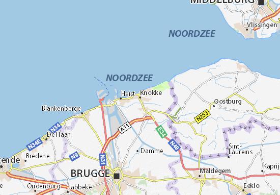 Kaart Plattegrond Knokke