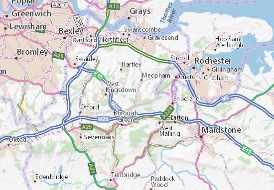 Culverstone Green Map