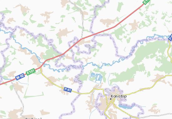 Mapa Plano Mel'nya