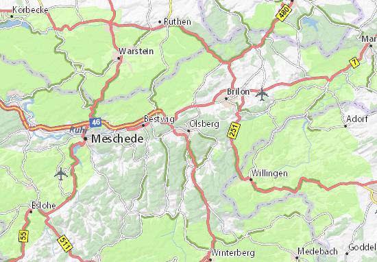 Kaart Plattegrond Olsberg