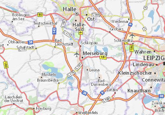 Karte Stadtplan Merseburg