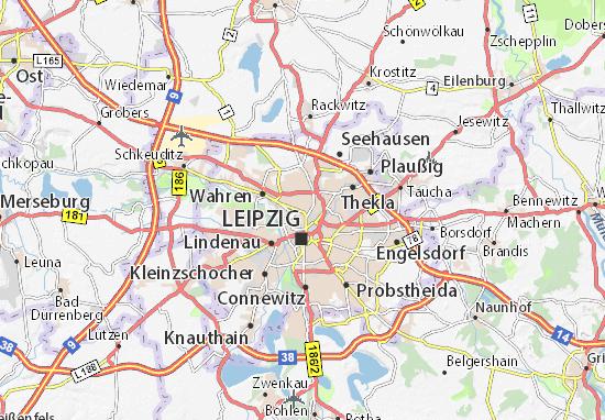 Leipzig Karte Mit Stadtteilen.Karte Stadtplan Gohlis Viamichelin