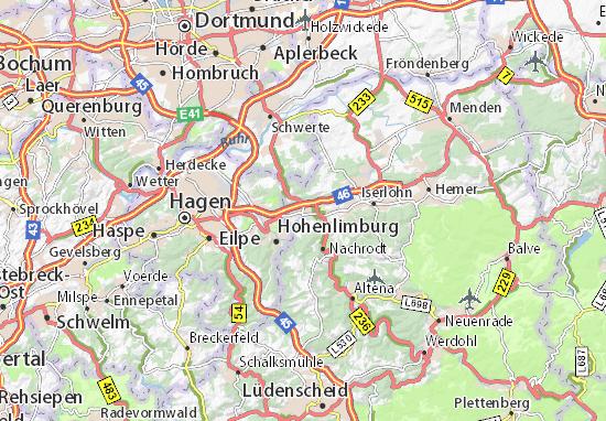 Karte Stadtplan Letmathe Viamichelin