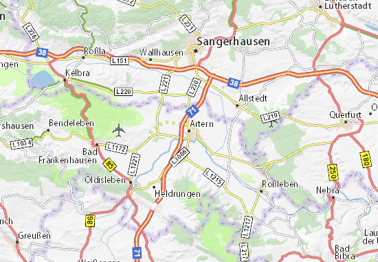 Artern Map