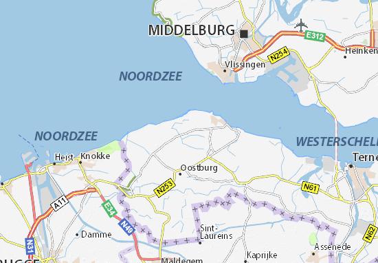 Zeeland Holland Karte.Karte Stadtplan Groede Viamichelin