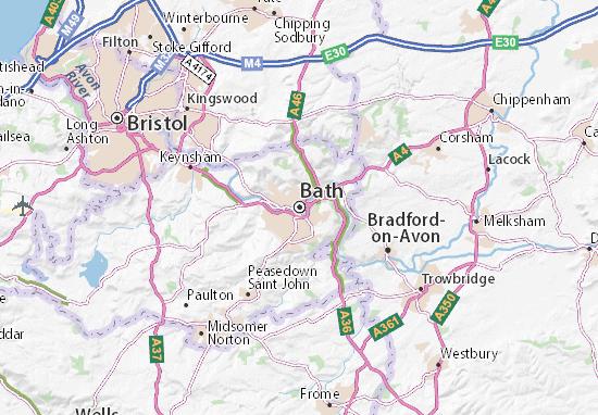 Kaart Plattegrond Bath