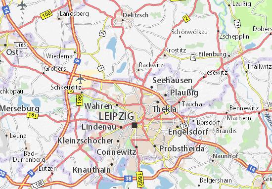 Karte Stadtplan Wiederitzsch Viamichelin