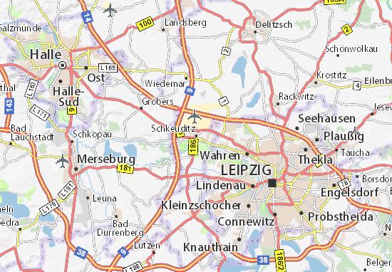 Leipzig Karte Mit Stadtteilen.Karte Stadtplan Schkeuditz Viamichelin