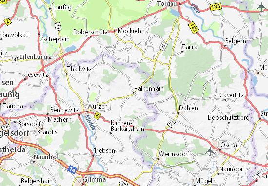 Carte-Plan Falkenhain