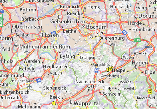 Carte-Plan Hattingen