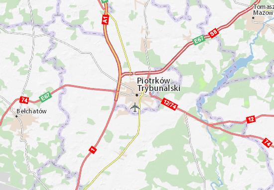 Carte-Plan Piotrków Trybunalski