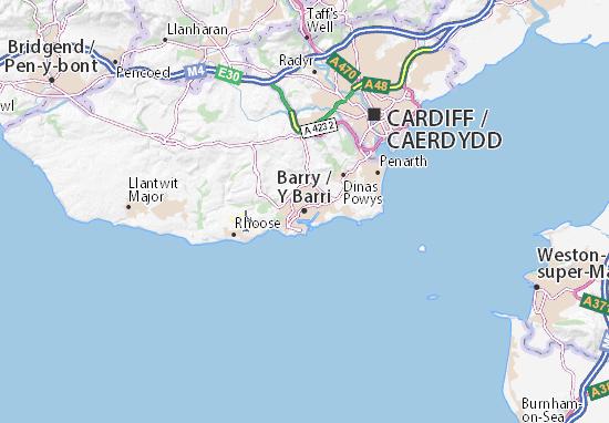 Kaart Plattegrond Barry