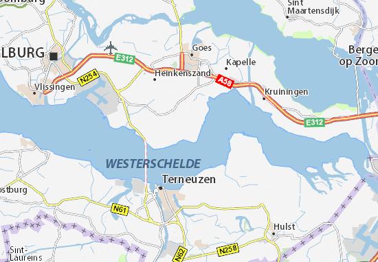 Zeeland Holland Karte.Karte Stadtplan Baarland Viamichelin
