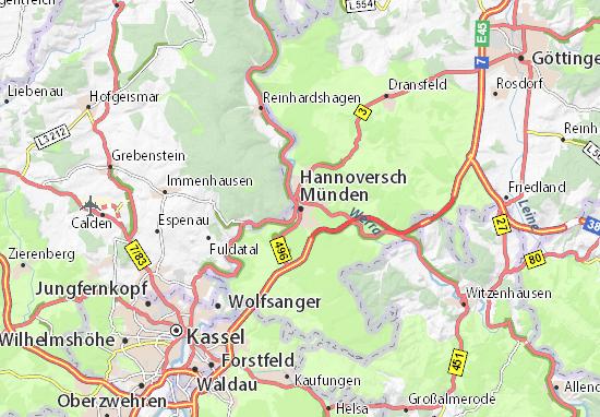 Carte-Plan Hannoversch Münden
