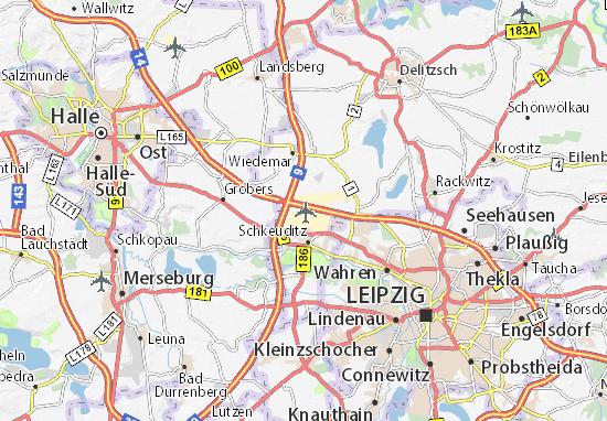 Map Of Leipzig Halle Michelin Leipzig Halle Map Viamichelin