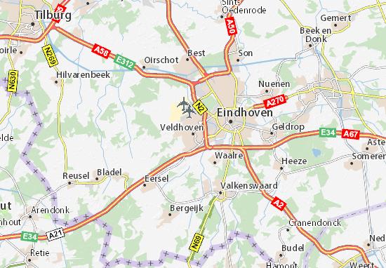 Kaart Plattegrond Veldhoven