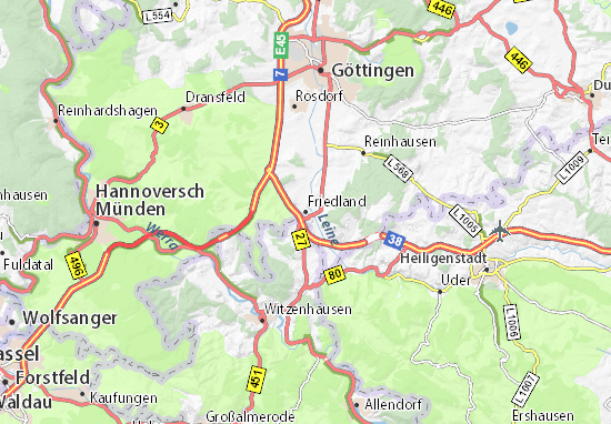 Karte Stadtplan Friedland