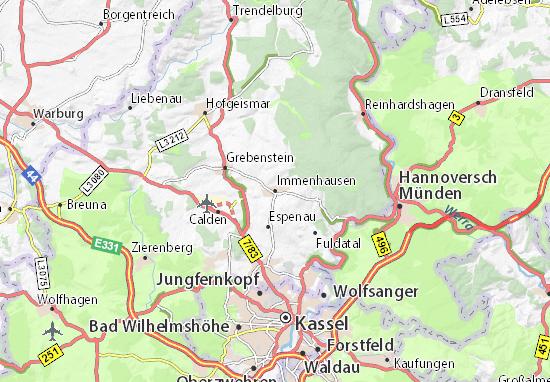 Carte-Plan Immenhausen