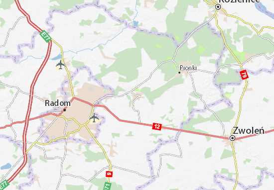 Carte-Plan Jedlnia-Letnisko