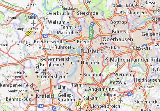 Mapa Duisburg
