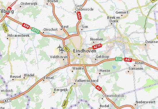 Kaart Plattegrond Eindhoven