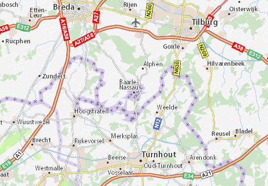 Kaart Plattegrond Baarle-Hertog