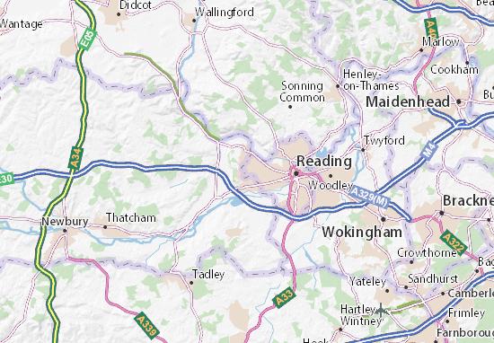Map Of Reading Tilehurst Map: Detailed maps for the city of Tilehurst   ViaMichelin Map Of Reading