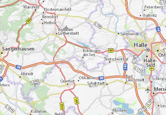 Röblingen am See Map