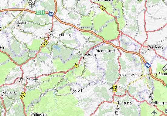 Carte-Plan Marsberg
