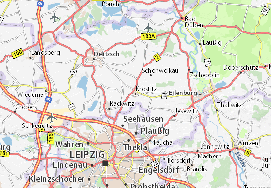 Karte Stadtplan Krostitz