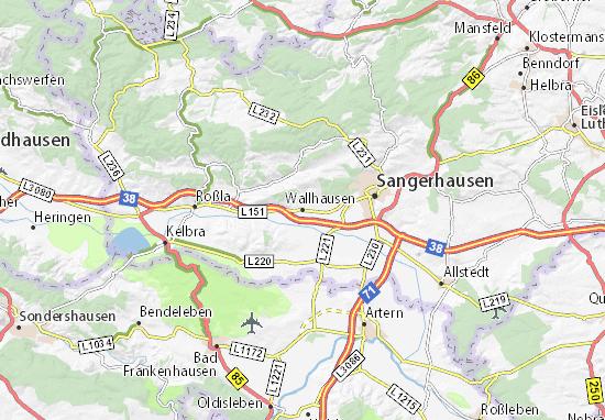 Mapa Plano Wallhausen
