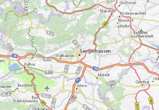 Carte-Plan Sangerhausen
