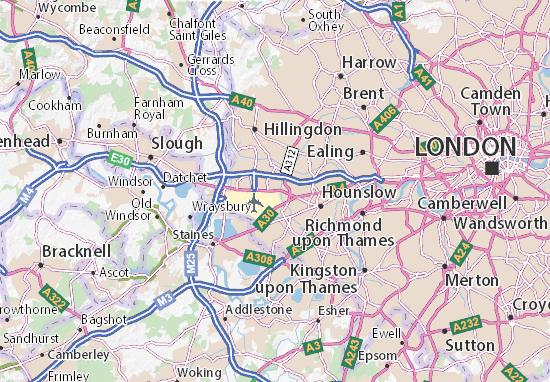 Cartina Aeroporti Londra.Mappa Michelin Heathrow Airport Pinatina Di Heathrow Airport Viamichelin