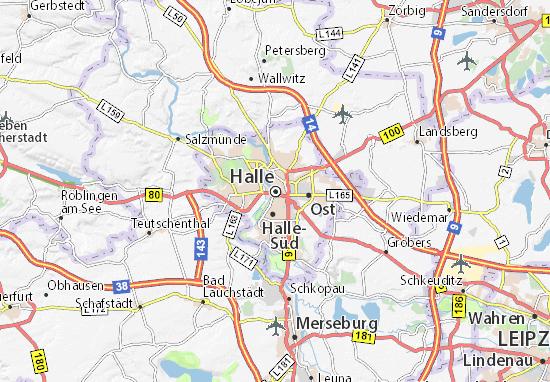 Carte-Plan Halle