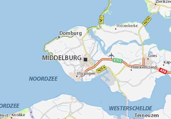 Zeeland Holland Karte.Karte Stadtplan Middelburg Viamichelin