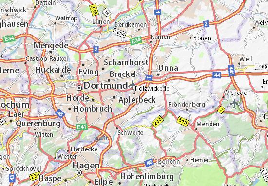 Karte Stadtplan Holzwickede
