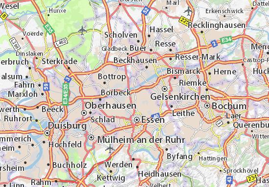 Carte-Plan Altenessen-Nord