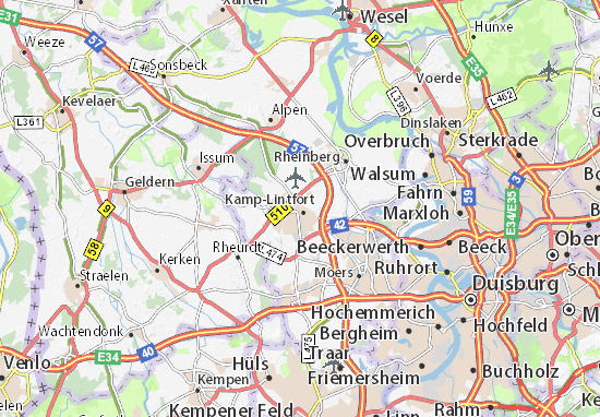 Karte Stadtplan Kamp