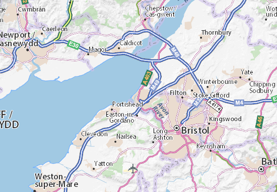Map Of Bristol Uk.Avonmouth Map Detailed Maps For The City Of Avonmouth Viamichelin