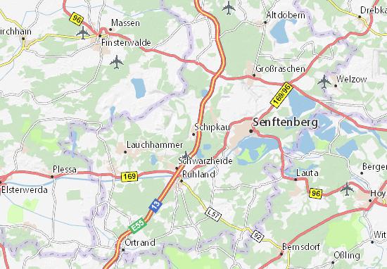 Carte-Plan Schipkau