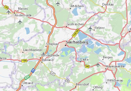 Mapa Plano Senftenberg