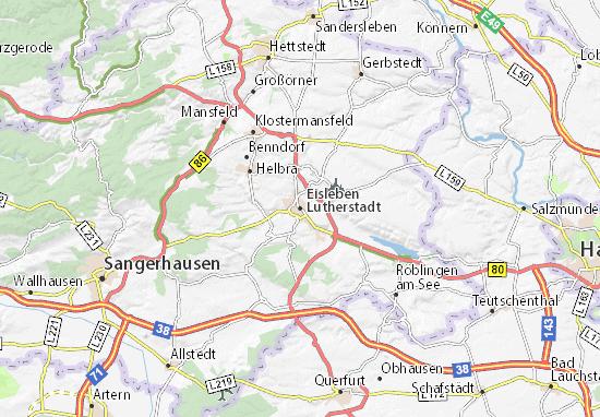 Carte-Plan Eisleben Lutherstadt