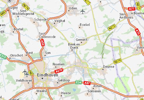 Karte Stadtplan Beek en Donk