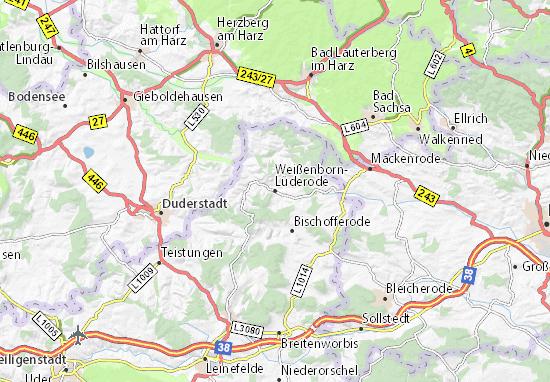 Karte Stadtplan Weißenborn-Lüderode