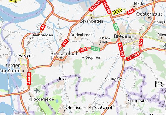 Rucphen Map